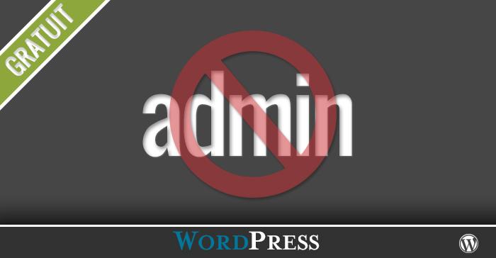 Comment supprimer l'utilisateur admin dans WordPress
