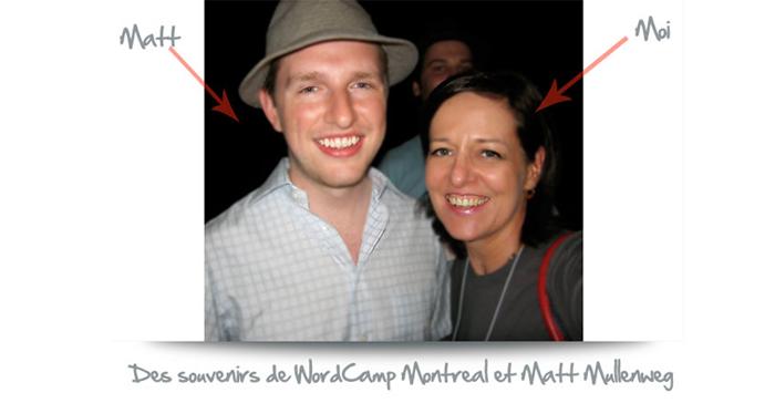 Des souvenirs de WordCamp Montreal et Matt Mullenweg