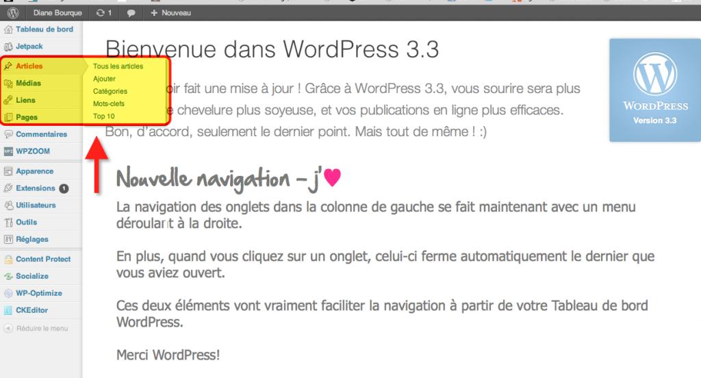 Nouveautés dans WordPress 3.3 Sonny Stitt