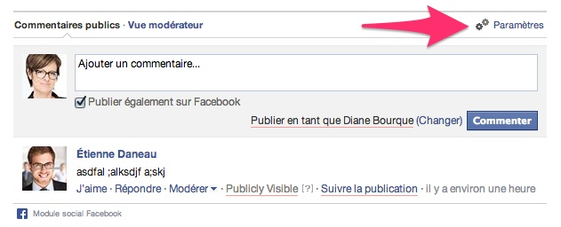 facebook-app-parametres