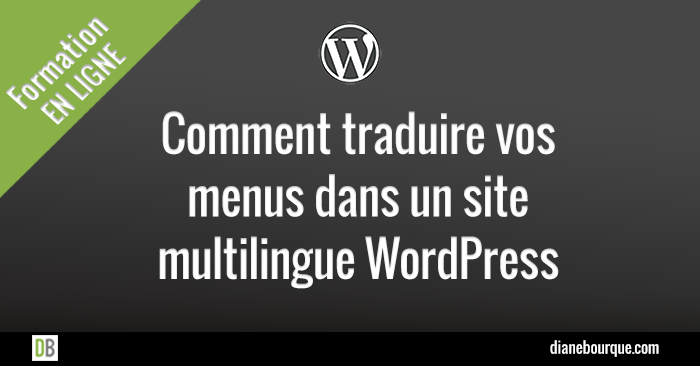 Traduire des menus dans un site multilingue WordPress