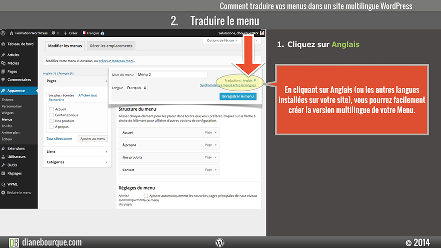 wordpress-wpml-traduire-menu