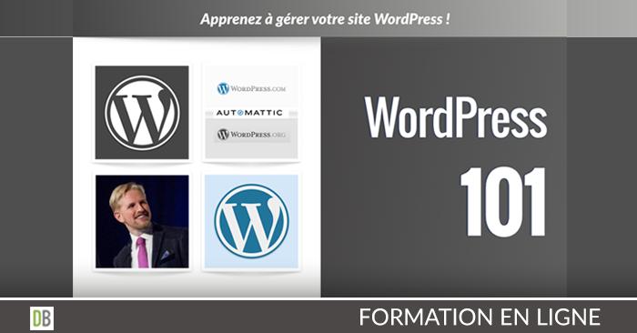 Apprenez à gérer votre site WordPress avec la Formation WordPress 101 en ligne